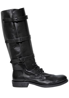 30MM LEATHER BOOTS W/ DETACHABLE SHAFT