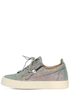 20MM GLITTERED ZIP UP SNEAKERS