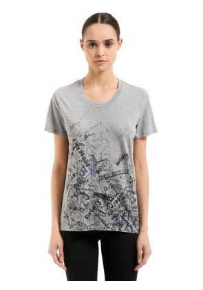 GRAFFITI PRINTED COTTON T-SHIRT