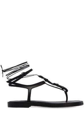 20MM LEATHER LACE-UP SANDALS
