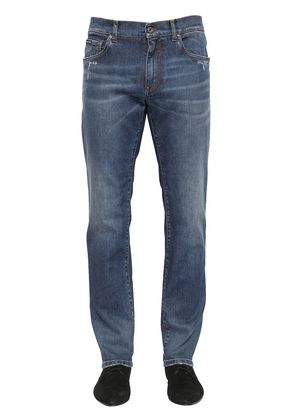 16.5CM STRETCH COTTON DENIM JEANS