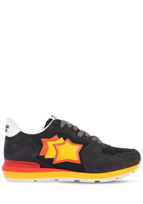 ANTARES SUEDE & NYLON RUNNING SNEAKERS