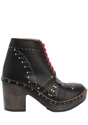 RUNWAY SS18 70MM STUDDED LEATHER BOOTS