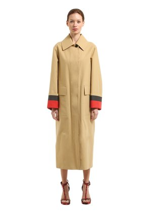RUNWAY SS18 BONDED COTTON POPLIN COAT