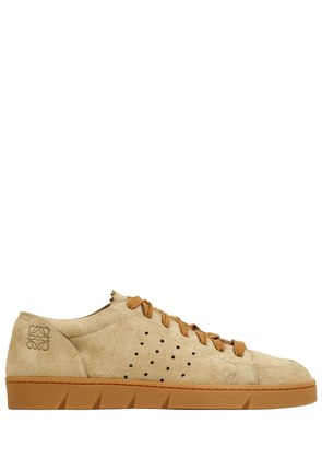 20MM PERFORATED SUEDE SNEAKERS