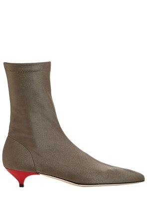 35MM STRETCH KNIT SOCK ANKLE BOOTS