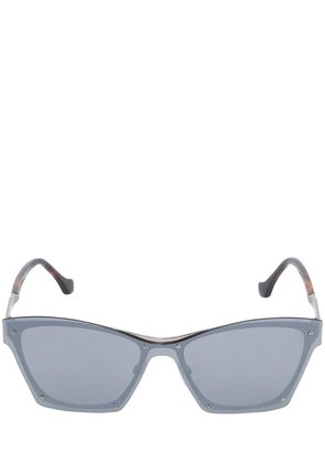 D-FRAME MIRRORED SUNGLASSES