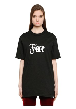 FACE PRINTED COTTON T-SHIRT