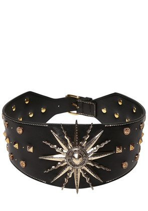 SUN & STUDS EMBELLISHED LEATHER BELT