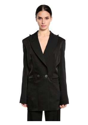 DOUBLE BREASTED LONG TUXEDO JACKET