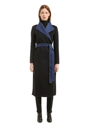 BELTED CASHMERE CLOTH COAT