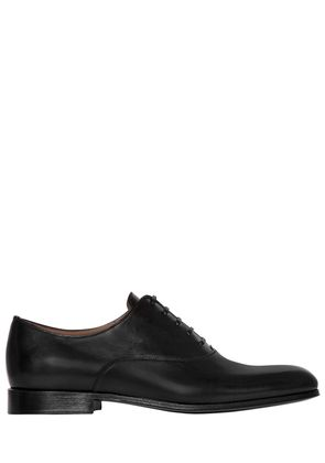 POLISHED LEATHER OXFORD LACE-UP SHOES