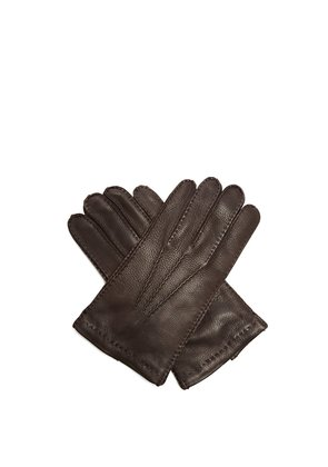 Topstitched leather gloves