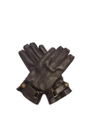 Angry Cat leather gloves