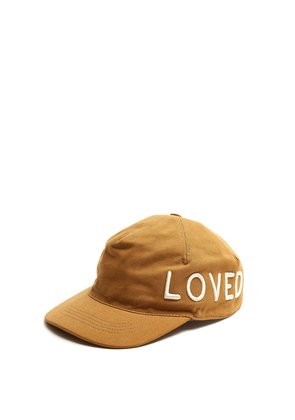 Logo-embroidered cotton cap