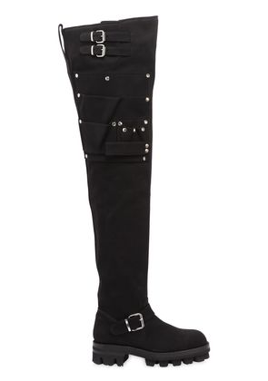 40MM UTILITY OVER THE KNEE CANVAS BOOTS