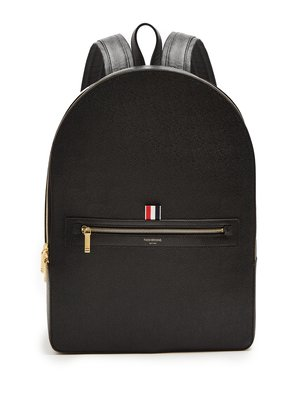 Pebbled-leather backpack