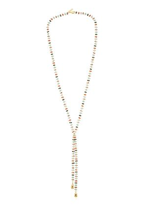 BEADED EMMY LARIAT NECKLACE