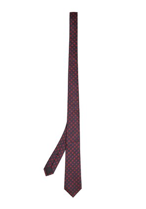 Bee and star-embroidered silk tie