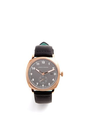 MK I Pilot stainless-steel and leather watch