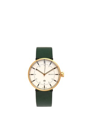BW002 stainless-steel and leather watch