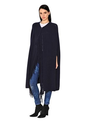 CASHMERE & WOOL KNIT CAPE