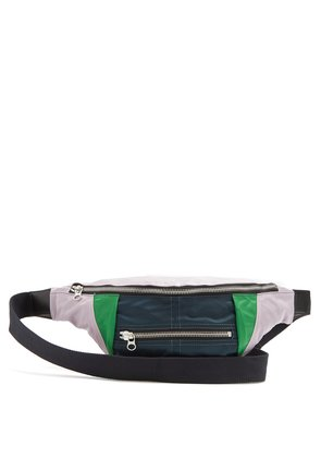Panelled belt bag