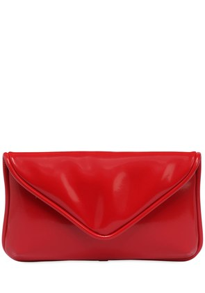 VINYL EFFECT MAXI ENVELOPE CLUTCH
