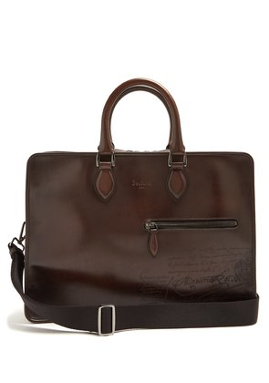 2 Jours leather briefcase
