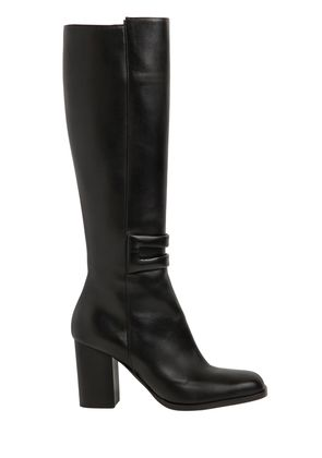90MM LEATHER TALL BOOTS