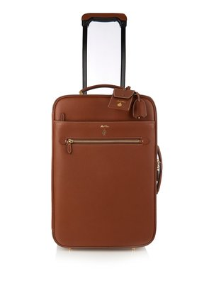 Grained-leather suitcase