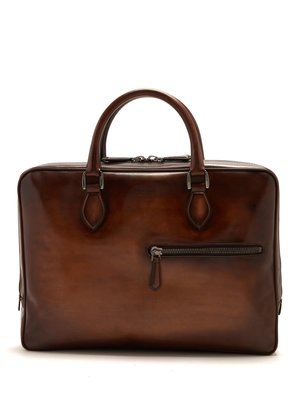 F007 leather briefcase
