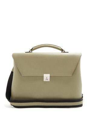 Grained-leather briefcase