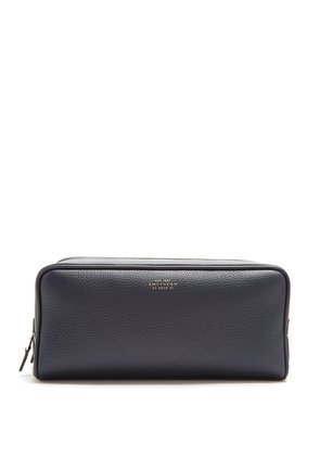 Burlington large grained-leather washbag