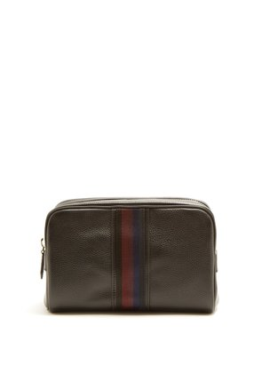 City Webbing leather washbag