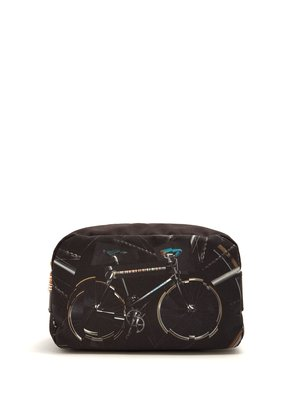 Bicycle-print washbag