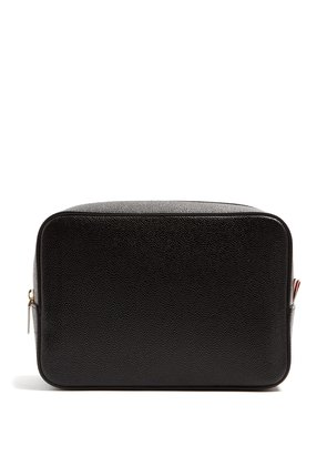 Grained-leather washbag