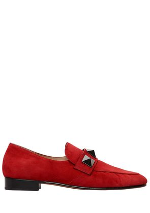 20MM MACRO STUDS SUEDE LOAFERS