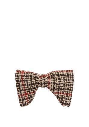 Tartan cotton-blend bow tie