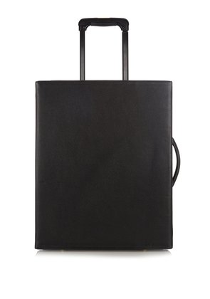 Grace grained-leather trunk suitcase