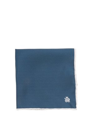 Logo-print silk pocket square