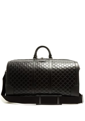 GG-debossed leather holdall