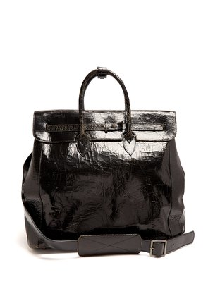 Herman cracked-leather holdall