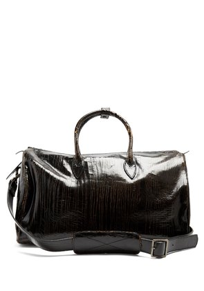 Roberta Doctor's cracked-leather holdall