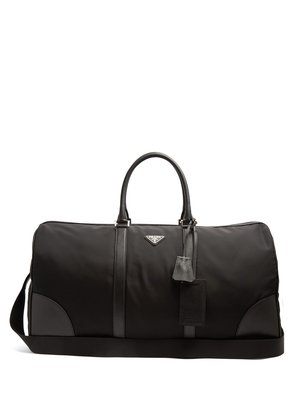 Saffiano leather-trimmed nylon holdall