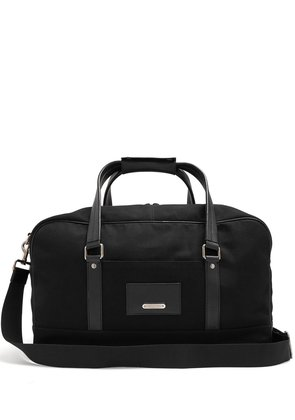Canvas leather-trimmed holdall