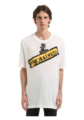 UNCHAINED PATCH COTTON JERSEY T-SHIRT