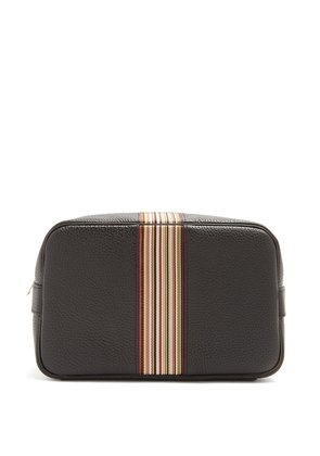 Signature Stripe leather washbag