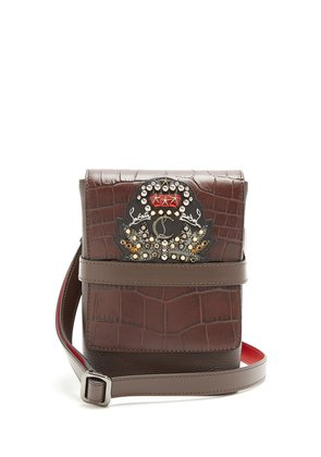 Benech small embellished-leather cross-body bag