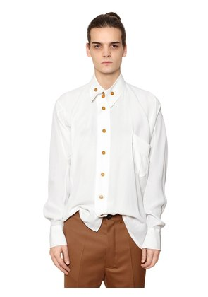 VISCOSE SHIRT W/ ASYMMETRIC COLLAR
